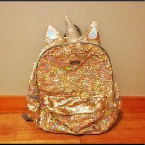 Justice for girl's flip sequin unicorn backpack
